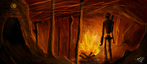 Fire Cave: Digipaint