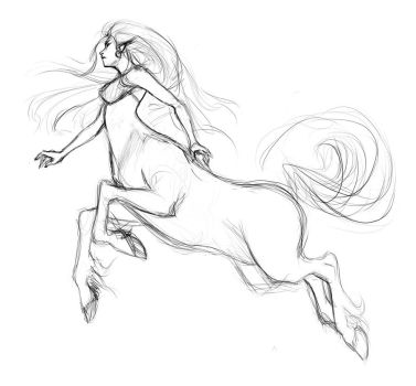 Centaur-drawing by doven