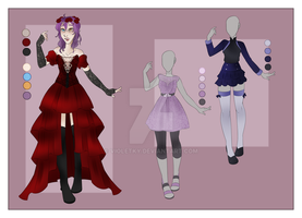 :: August Commission 02: Outfit Wardrobe :: by VioletKy