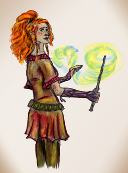 Ginny Weasely by EmilyElfwing