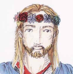 Thor in a flower crown by heart-of-glass
