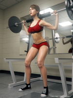 Workout Session: Lara Croft by JavierMicheal