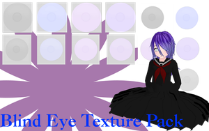 MMD Blind Eye Texture Pack by MMD-Nay-PMD