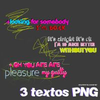 3 textos PNG by smilefairytale