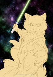 Wielding The Force - WIP2 by GoldenDruid