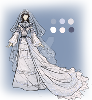 Christine Wedding Dress Design by Mazeyelle