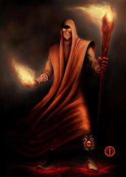 Adept of Fire Magic by Warl88