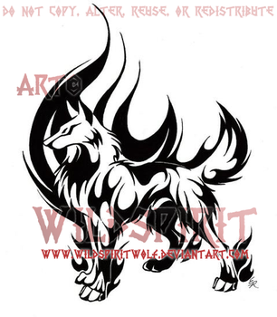 Born Of Fire Tribal Design Commission by WildSpiritWolf