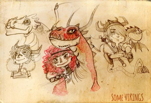 Doodle: Vikings and Dragons by K9Darkice