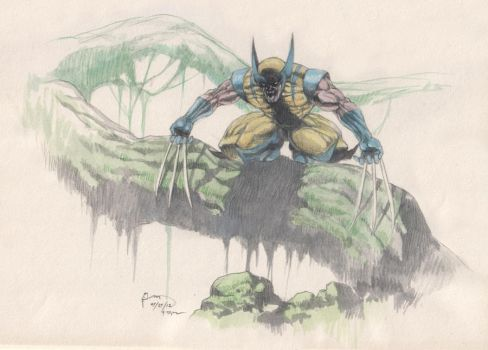 Wolverine: Forest Hunt by Nick-Ian
