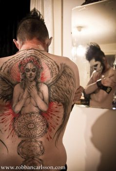Day of the dead angel tattoo by Robgrafix