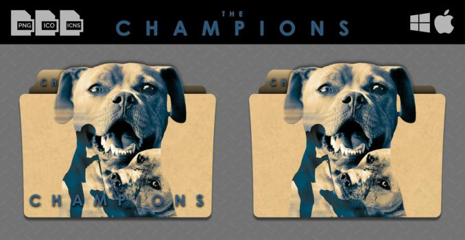 The Champions (2015) Movie Folder Icons by DhrisJ