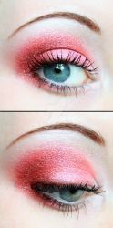 Red eyeshadow by Creativemakeup