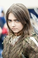 A girl is Arya Stark by noaxaon