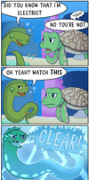 Eel and Sea Turtle Part Three by theodd1soutcomic