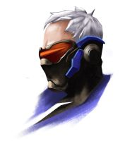 Soldier 76 overwatch by Nelphie