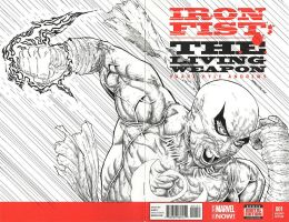 IRONFIST sketch cover  by drawhard