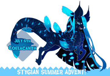 { SUMMER ADVENT } DAY 6 - Coelacanth by Zoomutt