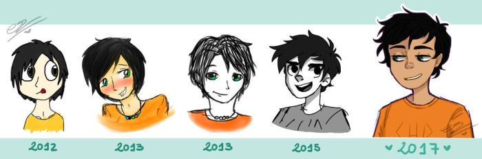 The Many Faces Of Percy Jackson by SimpaticasX2