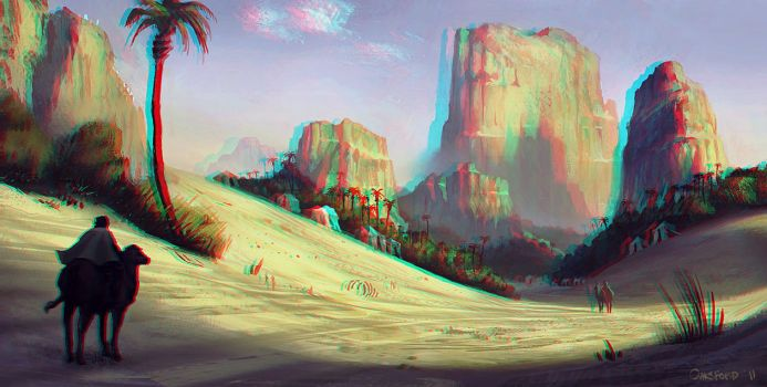 The al fayoum oasis by Justinoaksford 3D by Fan2Relief3D