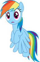 Rainbow Dash shocked by Dusk2k