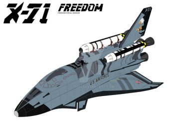 X-71 Space Shuttle Coloured by jtgil