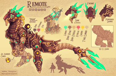 Remote (botw character idea) by DeerCub