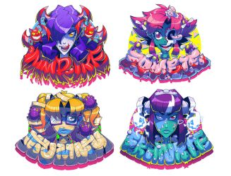 Monster Girl Stickers by Lysol-Jones