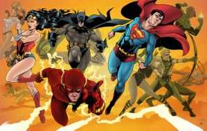 Justice League Finished colors by martheus