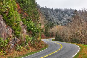 Winding Autumn Frost Road - Great Smoky Mountains by somadjinn