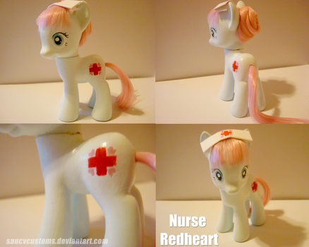 Nurse Redheart - Custom Pony by saucycustoms
