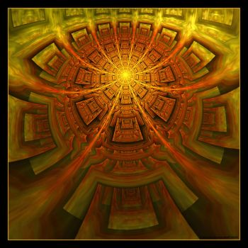 Aztec Sunship by 0urobuos