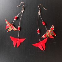 Swarm of butterflies earrings by sakuralu83