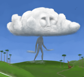 Watching the clouds go by by Zhombah
