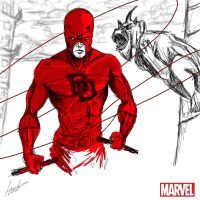 Heroes Series: DAREDEVIL by LouizBrito