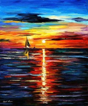 Sea Reflections by Leonid Afremov by Leonidafremov