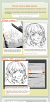 tutorial : pencil to digital painting by Deevad