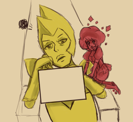 Yellow and Pink doodle by Lisifa