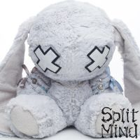 Powder Blue Bunny by splitmindplush