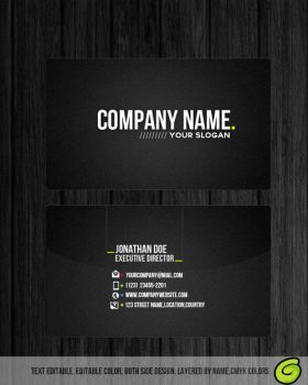 Professional Business Card  FREE PSD TEMPLATE by Mrclaudespeed
