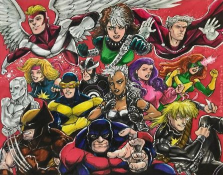 X-Men, 1986 by olybear