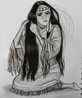 A girl from the tribe of American Indians by Angelii-D
