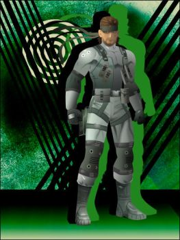 SSBB- Solid Snake by JeffHighwind