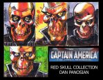 RED SKULL sketch cards by urban-barbarian