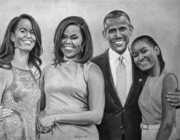 My Favorite First Family by joniwagnerart