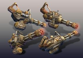 Steam ops Gatling 3D FPS Game by dezygn