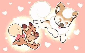 Athena and Mallow |Commission| by Pupom