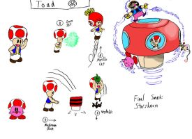 Toad's SSB4 moveset (pre-2014) by AdmiralN30