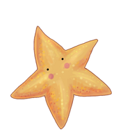 freshwater starfish by greaterorlessthan