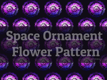 Space Ornament Flower Pattern by ZeBiii